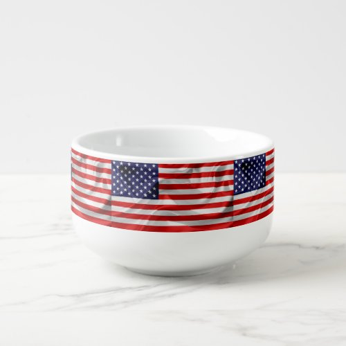 The Flag of the United States of America Soup Mug
