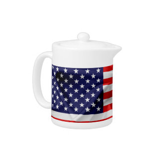 The Flag of the United States of America Teapot