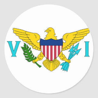 The Flag of the US Virgin Islands Classic Round Sticker