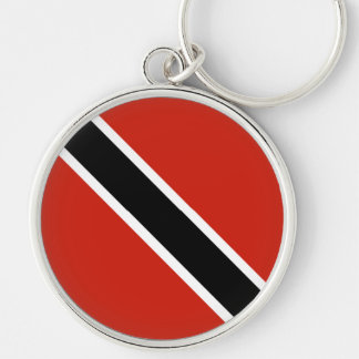 The Flag of Trinidad Silver-Colored Round Keychain