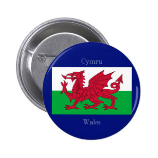 The Flag of Wales Pinback Button