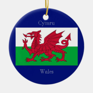 The Flag of Wales Ceramic Ornament