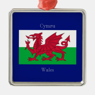The Flag of Wales Metal Ornament