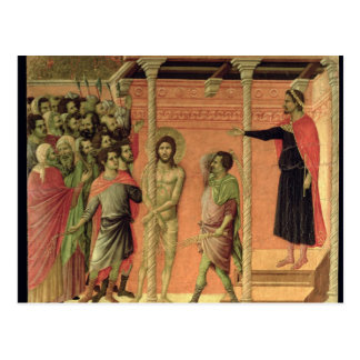 The Flagellation, from the Maesta altarpiece Postcard