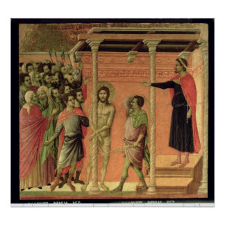 The Flagellation from the Maesta altarpiece Posters