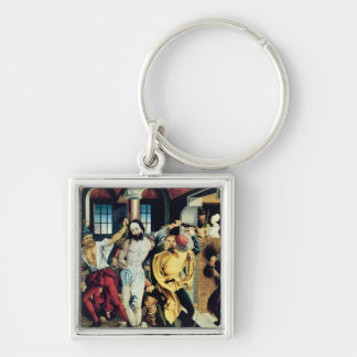 The Flagellation of Christ Silver-Colored Square Keychain