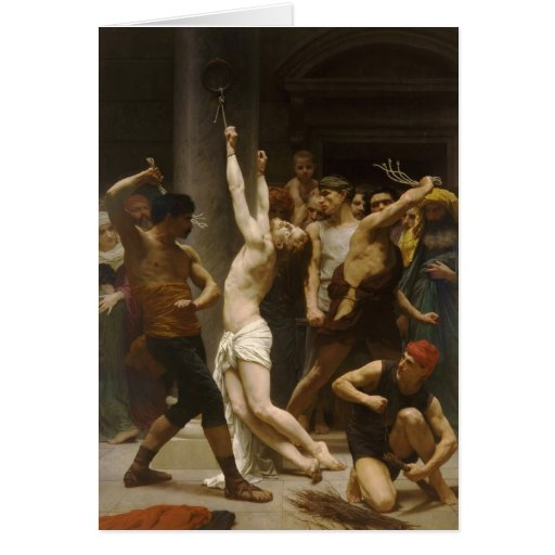 The Flagellation of Our Lord Jesus Christ 1880 Greeting Card