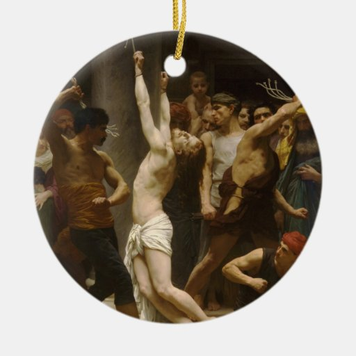 The Flagellation of Our Lord Jesus Christ 1880 Christmas Tree Ornaments