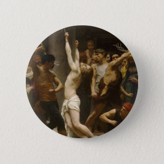 The Flagellation of Our Lord Jesus Christ 1880 Pinback Button