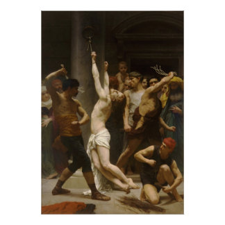 The Flagellation of Our Lord Jesus Christ 1880 Poster