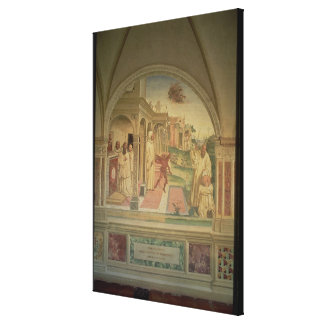 The Flagellation of St. Benedict, from the Life of Canvas Print