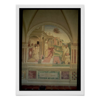 The Flagellation of St Benedict from the Life of Poster