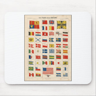 The Flags of all Nations Mouse Pad