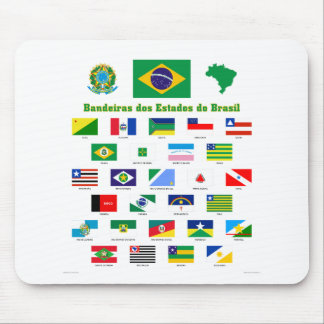 The Flags of Brazil Mouse Pad