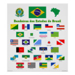 The Flags of Brazil Poster