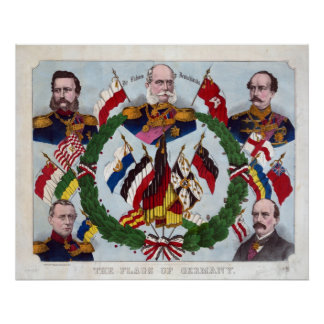 The Flags of Germany Poster