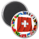 The Flags of the Cantons of Switzerland 2 Inch Round Magnet