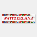 The Flags of the Cantons of Switzerland Car Bumper Sticker