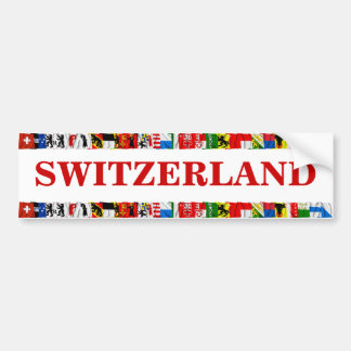 The Flags of the Cantons of Switzerland Bumper Sticker