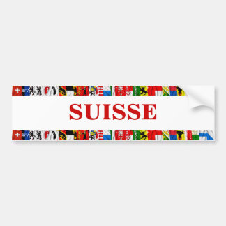 The Flags of the Cantons of Switzerland, French Bumper Sticker