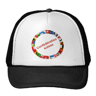 The Flags of the Cantons of Switzerland, French Mesh Hat