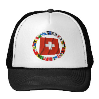 The Flags of the Cantons of Switzerland Trucker Hats
