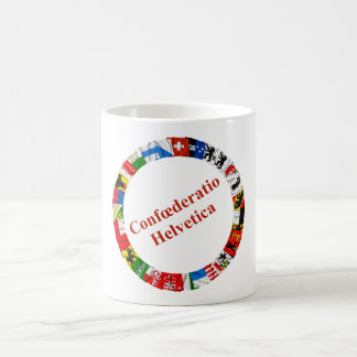 The Flags of the Cantons of Switzerland, Latin Coffee Mug