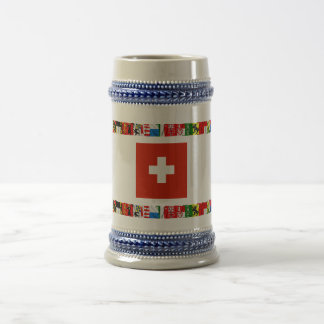 The Flags of the Cantons of Switzerland 18 Oz Beer Stein