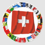 The Flags of the Cantons of Switzerland Sticker