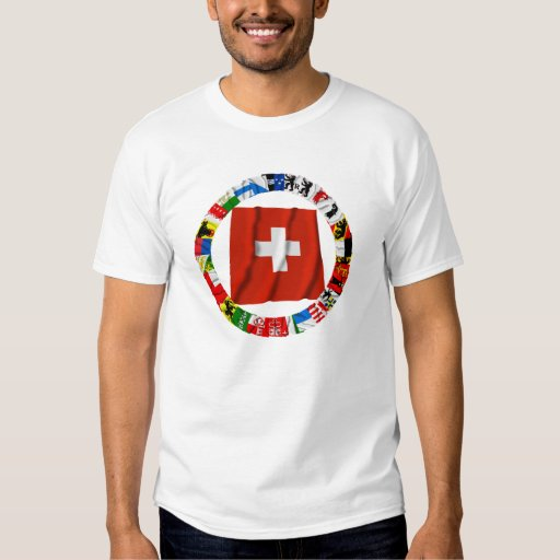 The Flags of the Cantons of Switzerland T Shirt