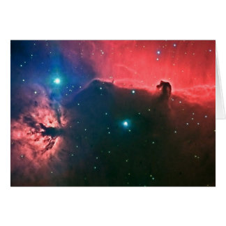 The Flame and Horsehead Nebulae Note Card