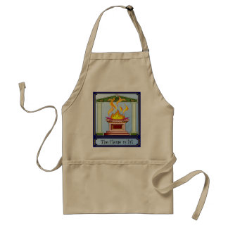 The flame is lit adult apron