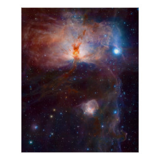 The Flame Nebula NGC 2024 Star Forming Region Poster