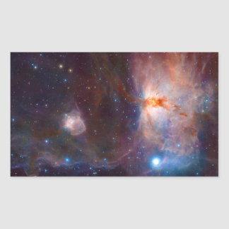 The Flame Nebula NGC 2024 Star Forming Region Rectangular Sticker