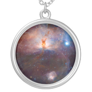The Flame Nebula NGC 2024 Star Forming Region Silver Plated Necklace