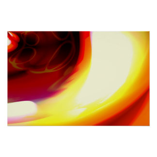 The Flame - Red Abstract Digital Art Poster Print