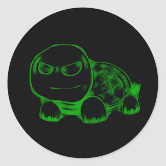 The Flame - Turtle Round Sticker