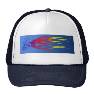 The Flameing skull Trucker Hat