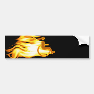 The Flaming Chair Bumper Sticker
