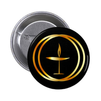 The Flaming Chalice Button
