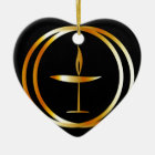 The Flaming Chalice Ceramic Ornament