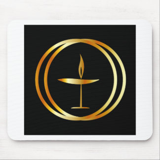 The Flaming Chalice Mouse Pad