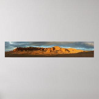 The Flaming Cliffs Gobi Desert Mongolia Panorama Print