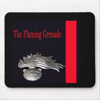 The Flaming Grenade Mousepad