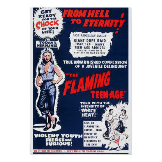 The Flaming Teen-Age Poster