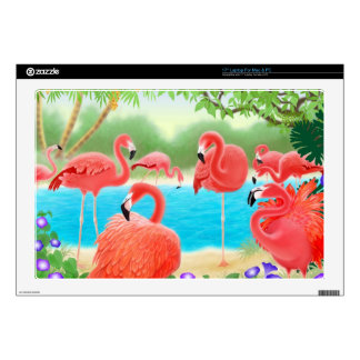 The Flamingo Lagoon Laptop Skin