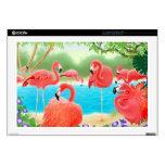 The Flamingo Lagoon Laptop Skin