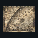"The Flammarion Flat Earth Dome Canvas Print<br><div class=""desc"">The Flammarion engraving is a wood engraving by an unknown artist, so named because its first documented appearance is in Camille Flammarion&#39;s 1888 book The Atmosphere: Popular Meteorology. It has been used to represent a supposedly medieval cosmology, including a flat earth bounded by a solid and opaque sky, or firmament,...</div>"