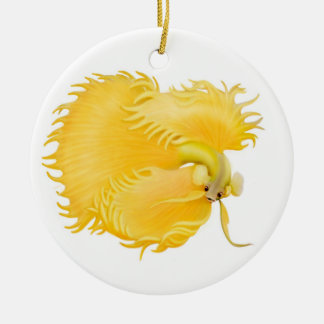 The Flaring Golden Betta Ornament