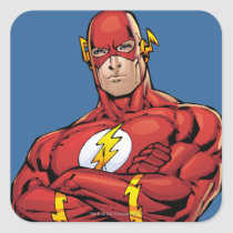 The Flash Arms Crossed Square Sticker